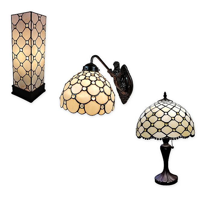 Alternate image 1 for Tiffany Style Jeweled Lamp and Lighting Collection