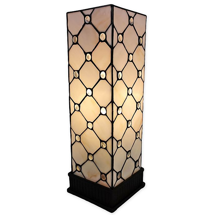 Alternate image 1 for Tiffany Style Jeweled Accent Lamp