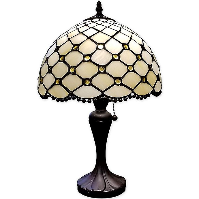 Alternate image 1 for Tiffany Style Jeweled Table Lamp