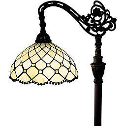 Tiffany Style Jeweled Reading Floor Lamp