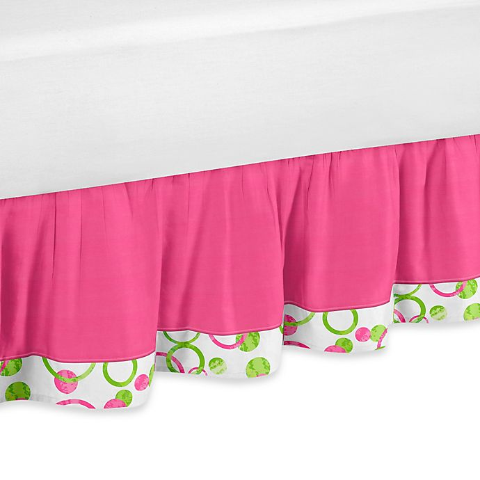 Alternate image 1 for Sweet Jojo Designs Mod Circles Queen Bed Skirt