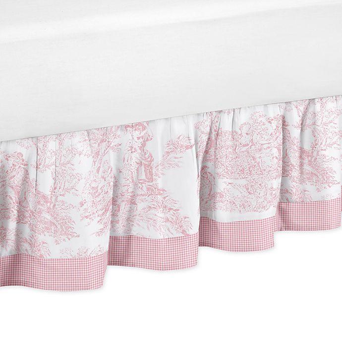 Sweet Jojo Designs Toile Queen Bed Skirt In Pink Buybuy Baby