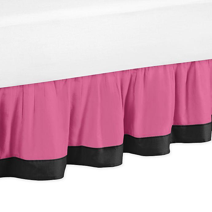 Alternate image 1 for Sweet Jojo Designs Soccer Queen Bed Skirt in Pink