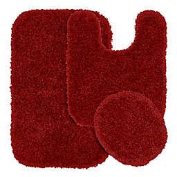 Serendipity 3-Piece Nylon Bath Rug Set in Chili Pepper Red