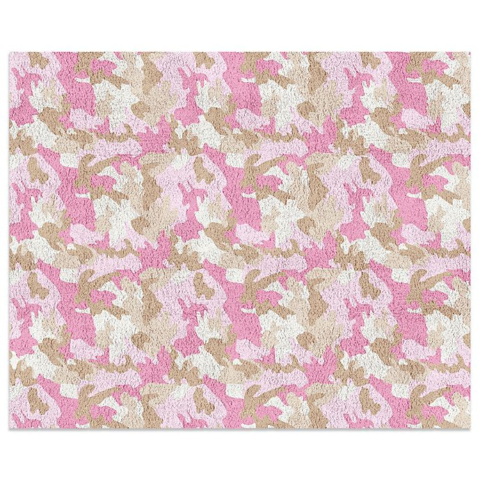 Camo Bathroom Rugs: Sweet Jojo Designs Camo 30-Inch X 36-Inch Rug In Pink