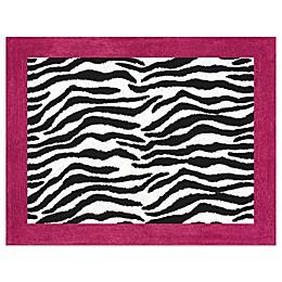 Sweet Jojo Designs Funky Zebra Accent Floor Rug in Pink