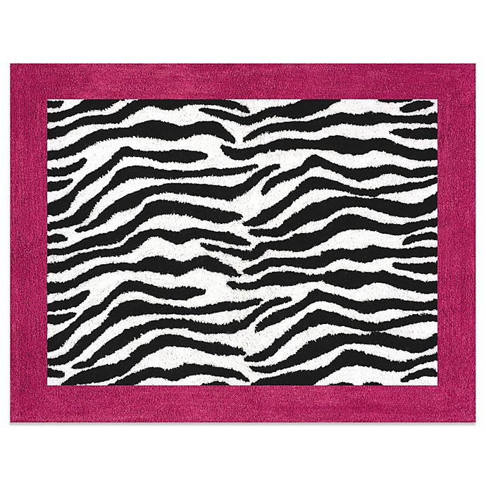 Sweet Jojo Designs Funky Zebra Accent Floor Rug In Pink