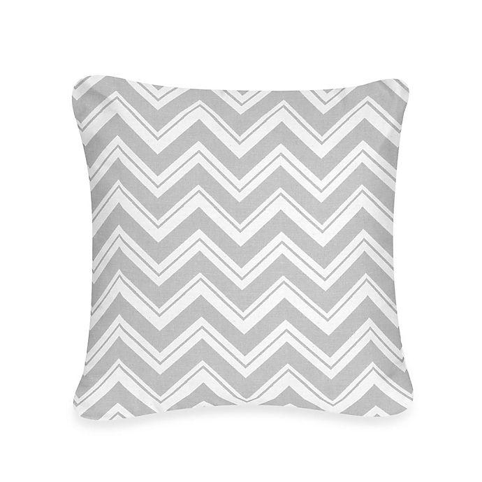 Alternate image 1 for Sweet Jojo Designs Zig Zag Decorative Pillow in Grey