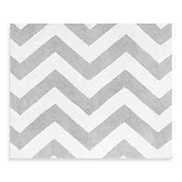 Sweet Jojo Designs Zig Zag Accent Floor Rug in Turquoise/Grey
