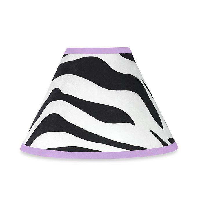 Alternate image 1 for Sweet Jojo Designs Funky Zebra Lamp Shade in Purple
