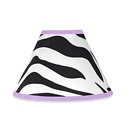 Sweet Jojo Designs Funky Zebra Lamp Shade in Purple