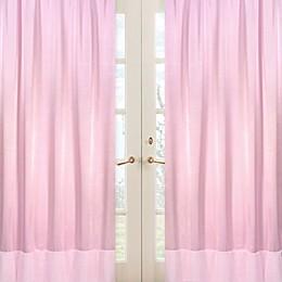 Sweet Jojo Designs Pink Chenille and Satin Window Panel Pair
