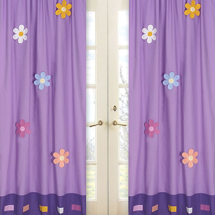 Alternate image 1 for Sweet Jojo Designs Danielle's Daisies Window Panel Pair