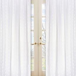 Sweet Jojo Designs Eyelet Window Panel Pair in White