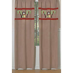 Sweet Jojo Designs Monkey Time 84-Inch Window Panel Pair