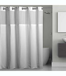 Cortina de baño con diseño tipo rejilla Hookless® de 1.82 x 2.48 m en blanco