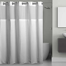 Hookless® Waffle Fabric Shower Curtain and Snap-in Liner Set
