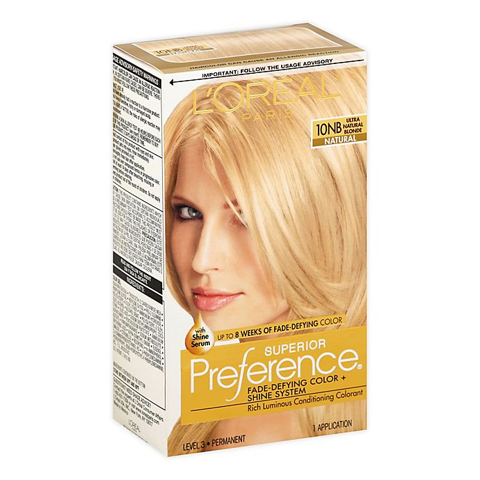 L Or Eacute Al Paris Superior Preference Hair Color In 10nb Ultra Natural Blonde Bed Bath Beyond