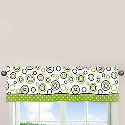 Sweet Jojo Designs Spirodot 54-Inch x 15-Inch Window Valance in Lime/Black