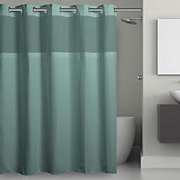 Hookless® Waffle 71-Inch x 74-Inch Fabric Shower Curtain in Sea Blue