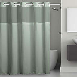 Hookless® Waffle 71-Inch x 74-Inch Fabric Shower Curtain in Jade