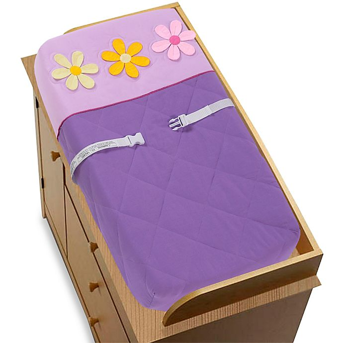 Alternate image 1 for Sweet Jojo Designs Danielle's Daisies Changing Pad Cover