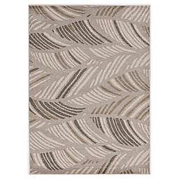 KAS Lucia Folia 5'3 x 7'7 Indoor/Outdoor Area Rug in Grey