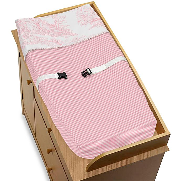 Alternate image 1 for Sweet Jojo Designs Pink French Toile Changing Pad Cover