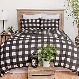 C & F Home™ Buffalo Check 3-Piece Duvet Set in Black
