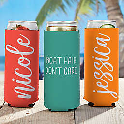 Scripty Style Slim Can Cooler