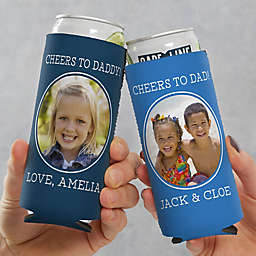 Photo Message For Him Slim Can Cooler