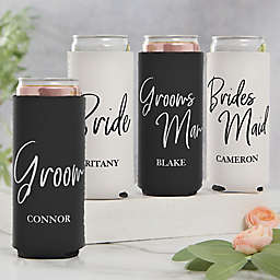 Classic Elegance Bridal Party Slim Can Cooler