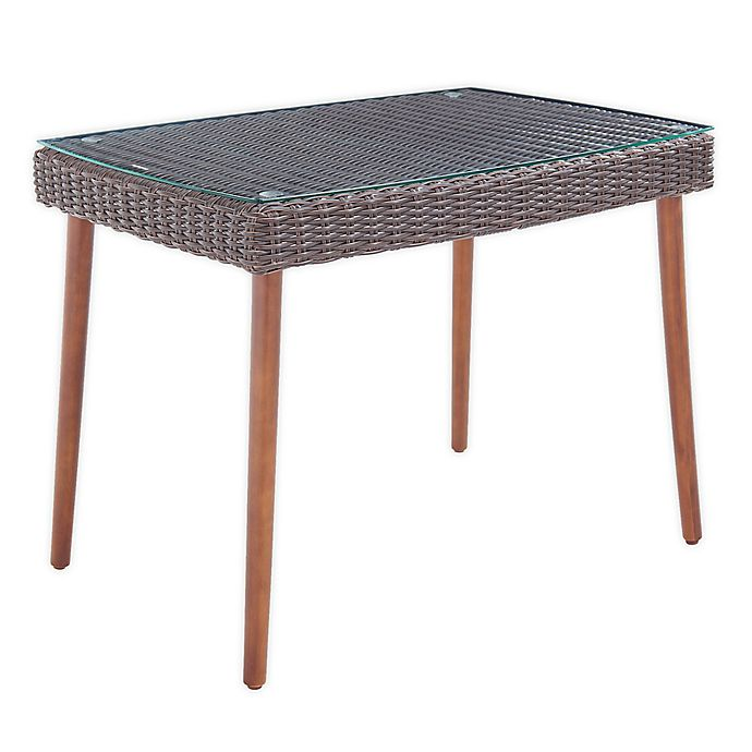 Alternate image 1 for Alaterre Furniture™ Athens 24-Inch Rectangle All-Weather Coffee Table in Chocolate Brown