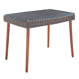 Alaterre Furniture™ Athens 24-Inch Rectangle All-Weather Coffee Table in Chocolate Brown