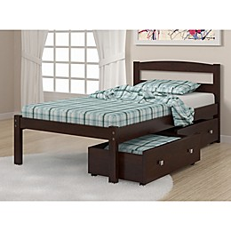 Econo Bed with Storage Drawers in Dark Cappuccino