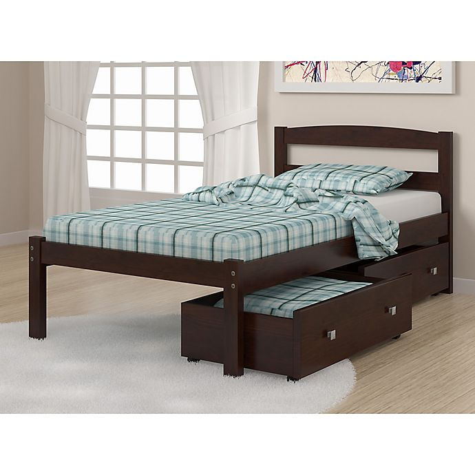 Alternate image 1 for Econo Bed with Storage Drawers in Dark Cappuccino