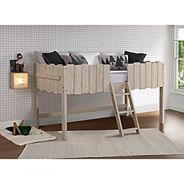 Picket Fence Low Loft Twin Bed in Rustic Sand