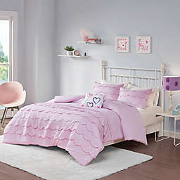 Mi Zone Sophia 4-Piece Reversible Full/Queen Comforter Set in Pink