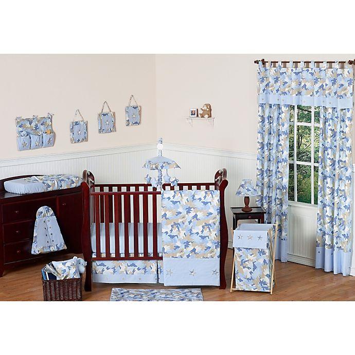 Sweet Jojo Designs Camo Crib Bedding, Camo And Blue Baby Bedding