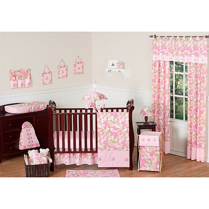 Sweet Jojo Designs Camo Crib Bedding Collection In Pink