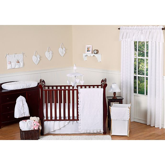 Alternate image 1 for Sweet Jojo Designs Eyelet 11-Piece Crib Bedding Set in White