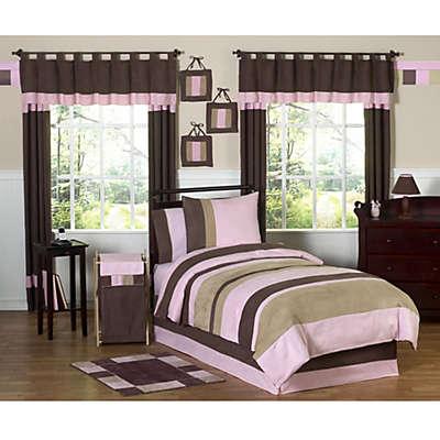 Sweet Jojo Designs Soho Bedding Collection in Pink/Brown