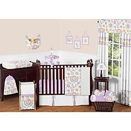 Sweet Jojo Designs Suzanna Crib Bedding Collection in Lavender/White