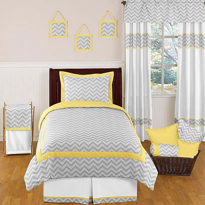 Sweet Jojo Designs Zig Zag Bedding Collection In Grey Yellow Bed Bath Beyond