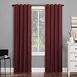 Sun Zero® Cyrus 63-Inch Backtab Curtain in Wine Red