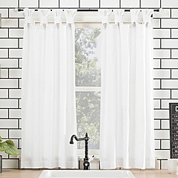 Archaeo® Washed Cotton 45-Inch Cafe Curtain in White