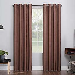 Sun Zero® Noir 84-Inch Grommet Window Curtain Panel in Charcoal