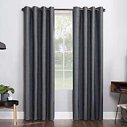 Sun Zero® Noir 96-Inch Grommet Window Curtain Panel in Charcoal (Single)