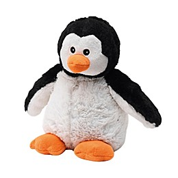 Warmies® Penguin Microwaveable Lavender Plush Toy in Black/White