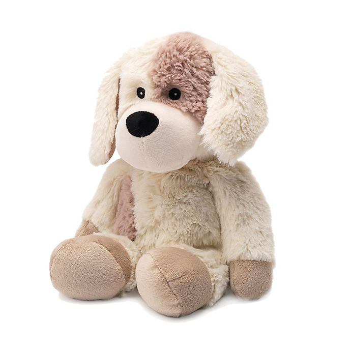 Alternate image 1 for Warmies® Puppy Microwaveable Lavender Plush Toy in Brown